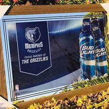 "Bud Light Memphis Grizzlies Basketball NBA Beer Bar Man Cave Pub Mirror ""New"""