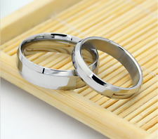 Hot Stainless Steel Promise Love Silver Classic smooth surface Love Couple Rings