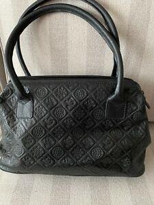 Hochwertige Damenhandtasche, Silvio Tossi, Leder, Schwarz, sehr guter Zustand