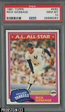 1981 Topps #460 Rich Goose Gossage New York Yankees HOF PSA 10