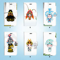Chinese Opera Wallet Case Cover Samsung Galaxy S6 7 8 9 10e Edge Plus Note 21