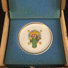 Vtg Miniature Collector Plateby Berta Hummel Museum Herald Angel Schmid 1976