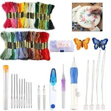 50 Color Starter Cross Stitch Set Threads Embroidery Kit Craft Diy Tools Fabric
