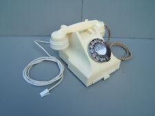 Ivery white original GPO Bakelite telephone 314F not painted  working P4
