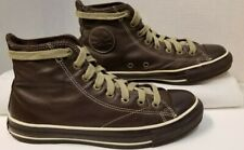 RARE Converse Chuck Taylor All Star Brown Leather Hi-Top Men's Shoes 1j857 Sz 7