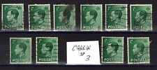 Ten Edward Viii stamps, ½d, #3.