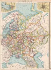 La Russia in Europa. Caucasia LIVONIA Curlandia. S. PIETROBURGO; Mosca??? 1912 Mappa