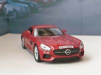 PERSONALISED MERCEDES AMG GT -RED 1.38 MODEL CAR NEW BOYS TOYS BOXED CHRISTMAS
