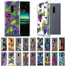 "For Sony Xperia 1 6.5"" Design Transparent Crystal Clear Soft TPU Case Skin Cover"
