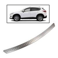 Fit For 12-16 Mazda Cx-5 Rear Bumper Protector Panel Cover Trim Trunk Sill Plate