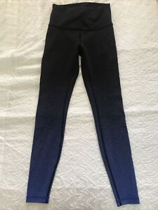 lululemon Black Leggings Uk10 Excellent Condition Full Length