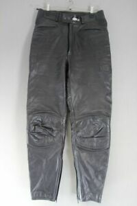 ASHMAN BLACK COWHIDE LEATHER BIKER TROUSERS WAIST 30 INCHES/INSIDE LEG 29 INCHES