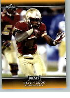 BRAND NEW DALVIN COOK 2017 LEAF DRAFT GOLD PARALLEL ROOKIE CARD! W/H TOP LOADER!