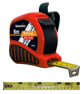 Hultafors Fisco 8m Brick Mate Metric Builders Block Counting Tape Measure, BM8M