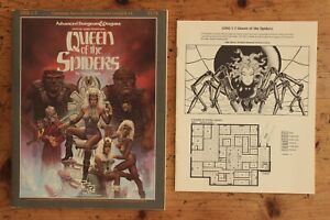 Queen of the Spiders Supermodule Campaign AD&D 1st Edition TSR 9179 GDQ1-7 1986