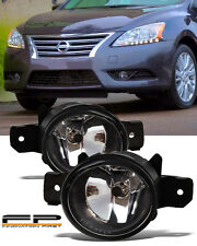 For 2004-2015 Nissan Sentra Front Replacement Fog Lights Housing Clear Lens Pair