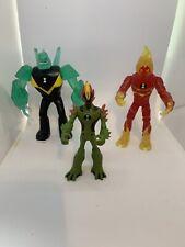 3 Ben Ten Action Figures Diamondhead flame blast Plus One More. FREE SHIPPING!