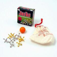Jacks Game Metal Crosses Ball Knucklebones Fivestones Classic Party Filler Toy