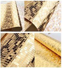 10M Wallpaper Gold Foil Suspended Ceiling Mosaic KTV Small lattice Glittering 3D