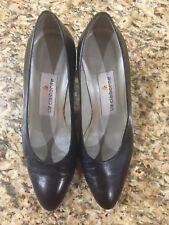 """Liz Claiborne Ladies Black Leather Pumps Sz 6M 3"""" Heels"""