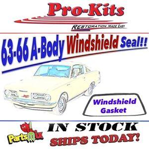 Fits 63 64 65 66 Dart Valiant Cuda Barracuda Windshield Gasket Seal w/Lockstrip