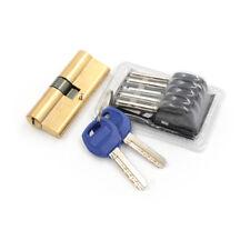 75MM 37.5/37.5 Brass Key Cylinder Door Lock Barrel Security Anti Snaps Lock M@M