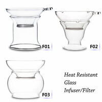 Kinds of Heat Resistant Clear Glass Tea Funnel Filter Strainer with Stand Holder
