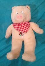 "VTG PIG PLUSH ""THIS LITTLE PIGGY"" NURSERY RHYME TALKING PIG 15"""