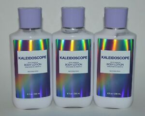 3 BATH & BODY WORKS KALEIDOSCOPE LOTION CREAM HAND LARGE 8 OZ SHEA BUTTER 24 HR