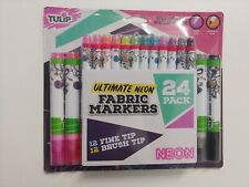 Tulip Fabric Neon Paint Markers Pens 24 ct 40625