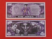 The JOKER Supervillain <> BATMAN's Enemy!! <> Fun $1,000,000 One Million Dollars