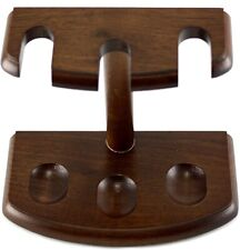 Pipe Rack/Holder/Stand - Walnut Finish - Holds 3 Pipes (756)