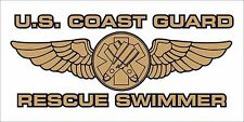 3X6 inch US COAST GUARD RESCUE SWIMMER Seal Sticker - decal military service