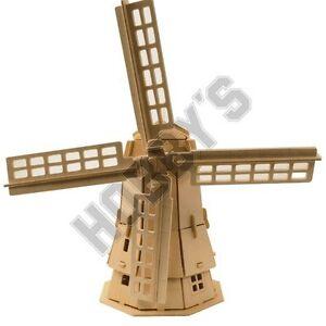 Windmill: Woodcraft Construction Kit - Wood Construction Wooden Model