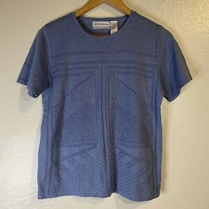 Alfred Dunner Women's Petite Large Blue Pullover Knit Top