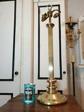 Big! Ralph Lauren Brass Hollywood Regency 2 Bulb Candlestick Table Desk Lamp