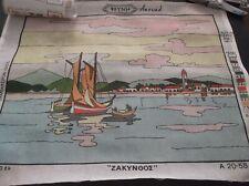 """Greek Island """"ZAKYNTHOS"""" Vintage Needlepoint FRYNI GREECE NEW/UNUSED 50X60cm !!!"""