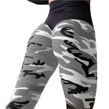 Women Camo Butt Lift Yoga Pants Hip Push Up Leggings Fitness Workout Stretch HP