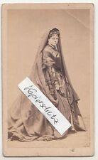 CDV foto DAMA Moda lutto per 1870 nobiltà? attrice? personalità!