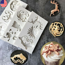 US! Game of Thrones 3D Silicone Fondant Mould Cake Molds Baking Chocolate Tool