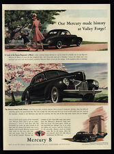 1940 Black MERCURY 8 Sedan Car - Dogwood Trees - Bloom - Family - VINTAGE AD