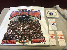 Vintage Lot Denver Broncos  SuperBowl Starter Shirt Ticket Stubs 1977 Ashtray