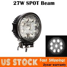 5INCH 27W Round LED WORK LIGHT BAR Spot Flood OFFROAD DRIVING FOG LAMP 12V 24V