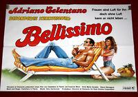 Kinoplakat quer BESONDERES KENNZEICHEN BELLISSIMO original 1983 Celentano