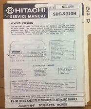 Hitachi Service Manual~SDT-9610H ST-9610C Stereo Cassette Recorder ...