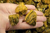 1 Pound of Natural Tiger Jasper Rough Stones - Cabbing, Tumble Rocks, Reiki