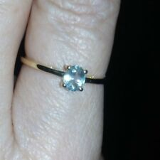GENUINE COLOUR CHANGE RARE 9K ALEXANDRITE RING 0.41CTS CERT OF AUTHENTICITY R