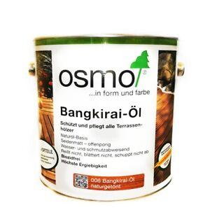 Osmo Terrassen-Öl Bangkirai-Öl Naturgetönt Dunkel 006 - 016 Osmo Bangkirai