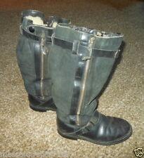 WW2 German Luftwaffe Pilot Leather Flight Boots - DUAL ZIP VERSION - RARE!