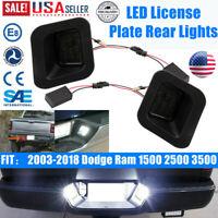 For Dodge Ram 1500 2500 3500 2003-2018 License Plate Rear Bumper Light LED Lamps